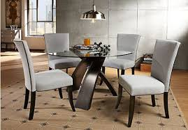 picture of del mar ebony round 5pc dining room from sets pertaining to rooms go tables decor 4