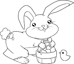 Coloring Pages Easter Bunny Cute Face To Print Eggs Dpalaw