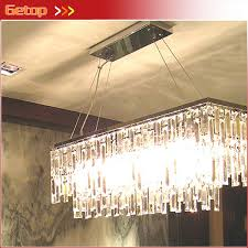 best rectangle k9 crystal chandelier restaurant light luxury res crystal pendant lamp for bar e14 led lighting fixture 11street malaysia