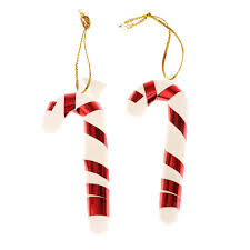 Plastic Candy Cane Decorations 100Pcsbag Plastic Candy Cane Ornaments Christmas Tree Hanging 31