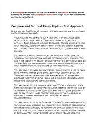 good ideas for comparison and contrast essays   essay topicsinteresting compare and contrast essay ideas