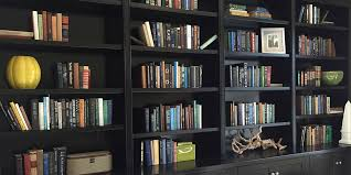 black bookcase wall unit 2