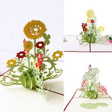 Teachers Birthday Card Details About 3d Pop Up Flower Greeting Card Thanksgiving Birthday Teachers Day Gift Dote