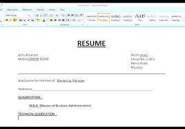 Blank Resume Templates For Microsoft Word Amazing Magnificent Resume Format Word Templates Simple In For Freshers File