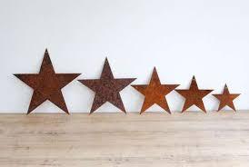 set of decorative metal stars in