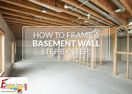 how to frame a basement wall step by