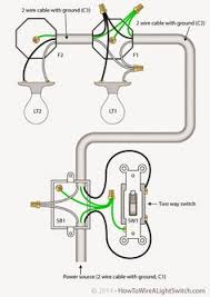 light and outlet 2 way switch wiring diagram electrical Two Switch Wiring Diagram electrical engineering world 2 way light switch with power feed via switch (two lights two pole switch wiring diagram