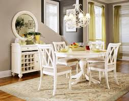 marvelous room vintage table chairs ideas re and round wood pedestal dining table painted with white color and chairs under hanging lamp round pedestal