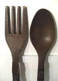 fork spoon wall decor decorative wooden spoon fabulous giant fork and spoon wall decor fork and