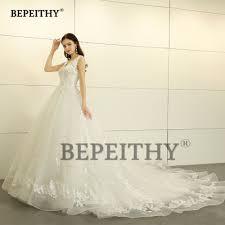 Wedding Court Design Bepeithy New Design 2019 Ball Gown Wedding Dress V Neck Court Train Lace Princess Bridal Dresses