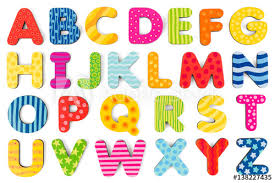 colorful wood alphabet letters on a
