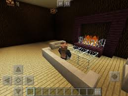 how to make a fireplace in minecraft pocket edition creative mode