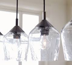 donovan glass 5 light pendant pottery barn