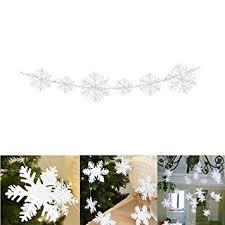Milopon Weihnachten Hänge Papier Girlanden Schneeflocke