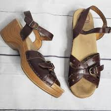 Dansko Silly Sandal Brown Size 40