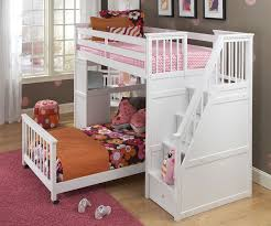 white bunk bed with stairs. Beautiful Stairs White Loft Bunk Beds With Stairs In Bed W