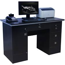 home office desk black. Computer Desk Corner Workstation For Home Office/Office Furniture With 3 Locks In Black 617/000: Amazon.co.uk: Office Products E