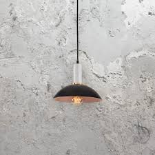 contemporary black white pendant light