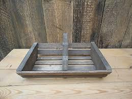 wooden trug basket handle rustic style b7