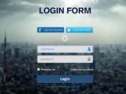 Login Form Psd Freebbble