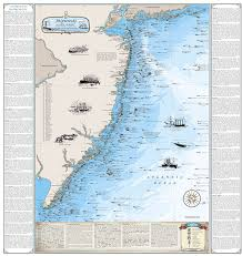 New Jersey Shipwrecks Sandy Hook To Cape May Boat Drawing