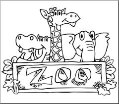 zoo sign clip art black and white. Exellent Art Clip Art Zoo Graphic Bu0026W I Abcteachcom  Preview 1 In Sign Art Black And White