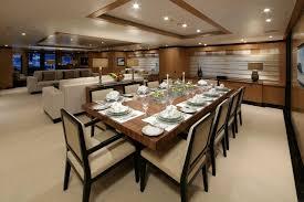 modern dining room decorating ideas. Black Leather Chairs Modern Dining Room Decor Ideas Futuristic Wooden Furniture Sets Appealing Big Brown Curtain Design White Pedestal Decorating