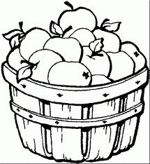 Manzanas Para Colorear Dibujo De Cesta De Manzanas Dibujo Para Colorear De Cesta