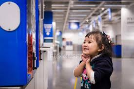 Vending Machine Girl Adorable Girl Standing By Vending Machine Stock Photo 48