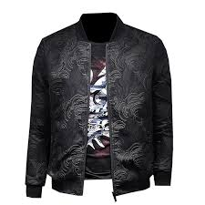2018 men s spring fashion personality print slim baseball wear high quality pure color short slim long sleeve top men s jacket leather jacket cream