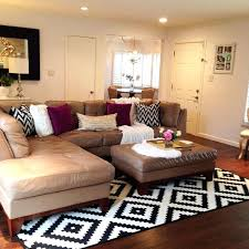 area rug for small living room patterned area rug for living room with leather l shaped sofa and patterned pillows with leather covered coffee table rug