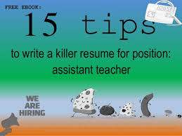 Assistant Teacher Resume Samples Assistant Teacher Resume Sample Pdf Ebook