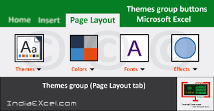Excel Themes Themes Group Excel How To Apply A Theme To A Workbook In Excel