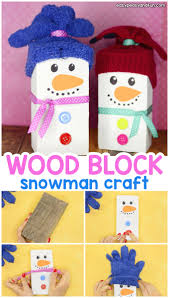 wood block snowman craft for kids cute craft idea to make as it s a
