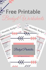Quick And Easy To Use Printable Budget Worksheets. #budget ...