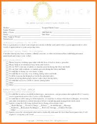C Section Birth Plan Birth Plan Template For Scheduled C Section 9 Home Example