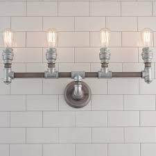 industrial bathroom vanity lighting. Brilliant Industrial Industrial Bathroom Vanity Lighting Pipe Light 4 Cu003d  Lighting I And Industrial Bathroom Vanity Lighting R