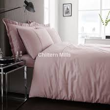 300 thread count sateen dusky pink duvet cover set