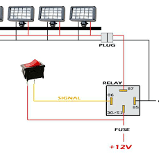 led light bar wiring diagram without relay switch connection lamp how to wire a relay for led lights at Wiring A Relay For Lights
