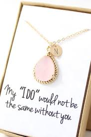 pink opal necklace blush pink bridesmaid necklace personalized bridesmaid necklace bridesmaid gift pink bridesmaid jewelry nr1