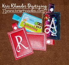 In The Hoop Luggage Tag Designs Ith Luggage Tag Embroidery Design Kris Rhoades