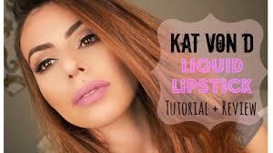 kat von d liquid lipstick lovesick makeup tutorial review you