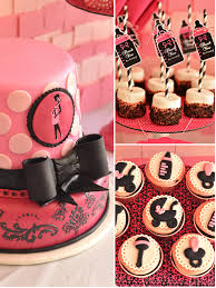 pink black glam baby shower with