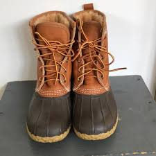 l l bean shoes ll bean shearling tumbled leather bean boots 8