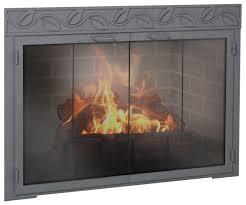 image of legend rectangle fireplace glass doors
