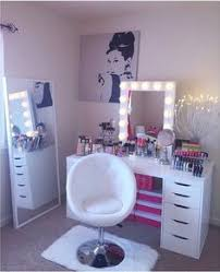 chairs for makeup vanity. my dressing room / makeup vanity wardrobe \u003c3 ikea malm table, clothing rack + mirror, kmart rug side target clear chair || inst\u2026 chairs for