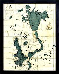Lake Arrowhead Depth Chart Lake Okoboji Spirit Lake Ia Wood Chart Products Lake