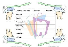 Teeth Cleaning Sticker Chart Reward Charts For Healthy Teeth