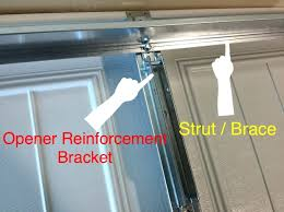 garage door opener bracket sears operator mounting section