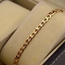 dels about 18k yellow gold filled bracelet chain 7 5 5mm curb link gf charm fashion jewelry
